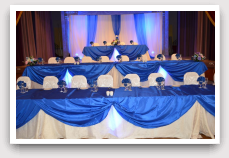 Banquet Hall Blue