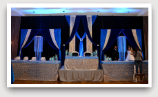 Blue Reception Wedding